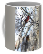 Cardinals In Mossy Tree Coffee Mug