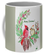 Cardinals Painted By Debbie Woodrow Coffee Mug