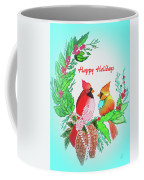 Cardinals Painted By Judith Brilhamte Coffee Mug