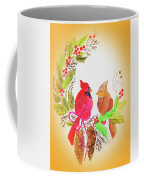 Cardinals Painted By Linda Sue Coffee Mug