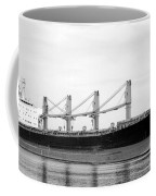 Cargo Ship On River Coffee Mug