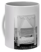Caribbean Relaxation Bed Single Vertical - Height For Triptych Black And White Coffee Mug