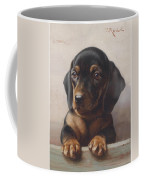 Carl Reichert 1836-1918 Junger Dackel 1918 Coffee Mug
