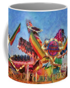 Carnival - A Most Colorful Ride Coffee Mug by Mike Savad