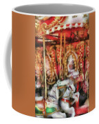 Carnival - The Carousel - Painted Coffee Mug by Mike Savad