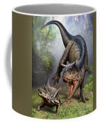 Carnotaurus Attacking An Antarctopelta Coffee Mug