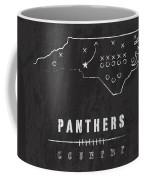 Carolina Panthers Art - Nfl Football Wall Print Coffee Mug by Damon Gray