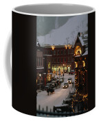 Carriage And Slded On Snowy Steets Coffee Mug by Paul Chesley