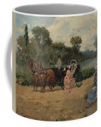 Carriage Ride By The River Coffee Mug