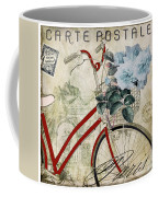 Carte Postale Vintage Bicycle Coffee Mug