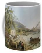 Carting And Putting Sugar Hogsheads On Board Coffee Mug