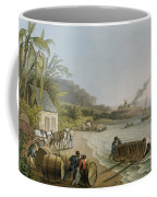Carting And Putting Sugar Hogsheads On Board Coffee Mug