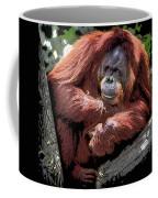 Cartoon Comic Style Orangutan Sitting In Tree Fork Coffee Mug