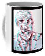 Cartoon Ink Sketch Of The Candidate Coffee Mug