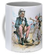 Cartoon: Uncle Sam, 1893 Coffee Mug