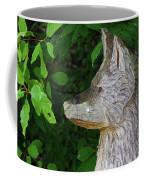 Carved Dogs Head Coffee Mug