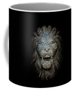 Carved Stone Lion's Head Coffee Mug