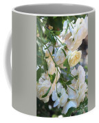 Cascading White Roses Coffee Mug