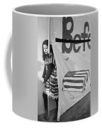 Casket On Banner Young Girl Anti Gulf War Rally Tucson Arizona 1991 Coffee Mug