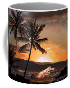 Casting Net At Sunset Coffee Mug