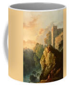Castle And Waterfall Coffee Mug
