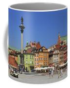 Castle Square And Sigismund's Column Warsaw Poland Coffee Mug