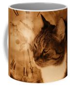 Cat And Clock Coffee Mug