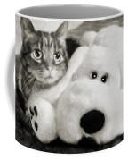 Cat And Dog In B W Coffee Mug