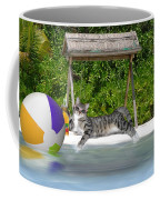 Cat At The Beach Coffee Mug