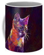 Cat Background Image Cute Red  Coffee Mug