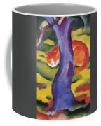 Cat Behind A Tree Coffee Mug