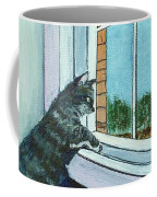 Cat By The Window Coffee Mug