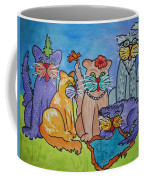 Cat Family Gathering Coffee Mug