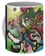 Cat Fight Coffee Mug