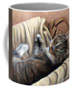 Cat In A Basket Coffee Mug