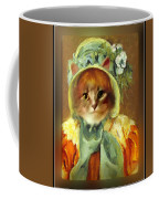 Cat In Bonnet Coffee Mug