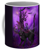 Cat In Goth Witch Hat Coffee Mug