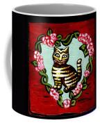 Cat In Heart Wreath 2 Coffee Mug