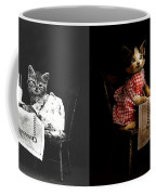 Cat - It's Our Birthday - 1914 - Side By Side Coffee Mug