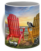 Cat Nap At The Beach Coffee Mug by Debra and Dave Vanderlaan