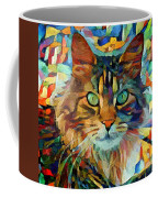 Cat On Colors Coffee Mug