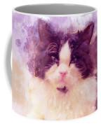 Cat Watercolor Coffee Mug