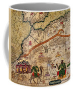 Catalan Map Of Europe And North Africa Charles V Of France In 1381  Coffee Mug by Abraham Cresques