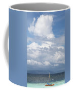 Catamaran Beach Clouds Coffee Mug