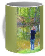 Catching Fish Coffee Mug