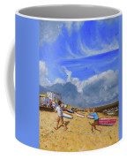 Catching The Ball, St Ives Coffee Mug