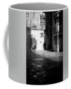 Catching Up On The News In Tarragona Spain Bw Coffee Mug