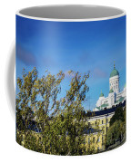 Cathedral Landmark And Central Helsinki View In Finland Coffee Mug