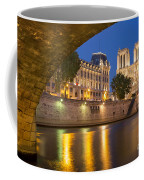 Cathedral Notre Dame And River Seine - Paris Coffee Mug