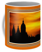 Cathedral Silhouette Sunset Fantasy L B With Decorative Ornate Printed Frame. Coffee Mug
